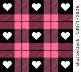 valentine day tartan plaid.... | Shutterstock .eps vector #1307172826