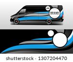 car wrap company design vector. ... | Shutterstock .eps vector #1307204470