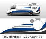 car wrap company design vector. ... | Shutterstock .eps vector #1307204476