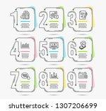 infographic timeline set of... | Shutterstock .eps vector #1307206699