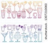 Vector Set Of Popular Cocktail...