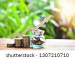 money coins saving set increase ... | Shutterstock . vector #1307210710