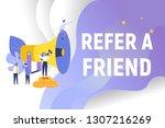 refer a friend concept...