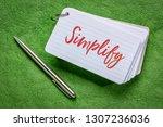 simplify word   handwriting on... | Shutterstock . vector #1307236036