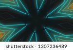 beautiful abstract symmetry...   Shutterstock . vector #1307236489