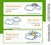 gardening banner collection... | Shutterstock .eps vector #1307241826