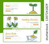 gardening banner collection... | Shutterstock .eps vector #1307241829