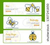 gardening banner collection... | Shutterstock .eps vector #1307241850