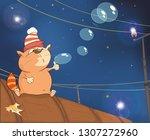 vector llustration of a cute... | Shutterstock .eps vector #1307272960