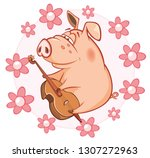 vector illustration of a cute... | Shutterstock .eps vector #1307272963