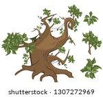 set of vector cartoon... | Shutterstock .eps vector #1307272969