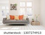white stylish minimalist room... | Shutterstock . vector #1307274913