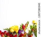 spring background. beautiful... | Shutterstock . vector #1307280340