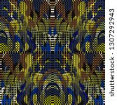 quirky tapestry pattern.... | Shutterstock .eps vector #1307292943