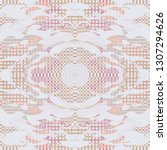 quirky tapestry pattern.... | Shutterstock .eps vector #1307294626