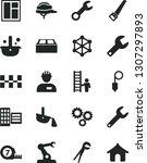 solid black vector icon set  ...   Shutterstock .eps vector #1307297893