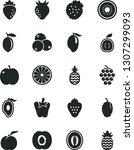 solid black vector icon set  ... | Shutterstock .eps vector #1307299093