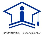 academic bachelor logo icon... | Shutterstock .eps vector #1307313760