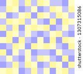 blue and yellow squares. vector ... | Shutterstock .eps vector #1307315086