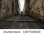 people walking on the stairs... | Shutterstock . vector #1307320603