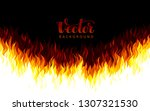 realistic vector fire flames on ... | Shutterstock .eps vector #1307321530