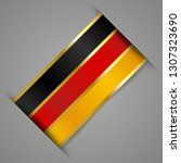 german flag. golden stripes.... | Shutterstock .eps vector #1307323690