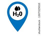 h2o icon and map pin. logo...