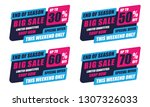 sale banner template design ... | Shutterstock .eps vector #1307326033