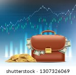stock market and exchange.... | Shutterstock .eps vector #1307326069