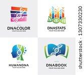 dna genetics logo set design... | Shutterstock .eps vector #1307330230