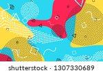 pop art color background....   Shutterstock .eps vector #1307330689