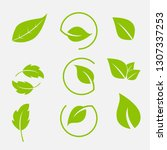 vector collection with green... | Shutterstock .eps vector #1307337253