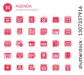 agenda icon set. collection of... | Shutterstock .eps vector #1307337916