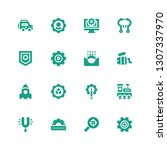 engine icon set. collection of... | Shutterstock .eps vector #1307337970