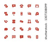 chatting icon set. collection...