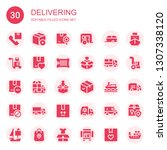 delivering icon set. collection ... | Shutterstock .eps vector #1307338120