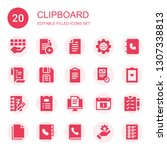 clipboard icon set. collection... | Shutterstock .eps vector #1307338813