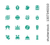 religion icon set. collection... | Shutterstock .eps vector #1307340310