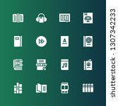 reader icon set. collection of... | Shutterstock .eps vector #1307342233