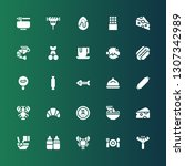 gourmet icon set. collection of ... | Shutterstock .eps vector #1307342989