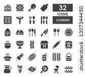 cooking icon set. collection of ... | Shutterstock .eps vector #1307344450