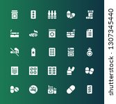addiction icon set. collection... | Shutterstock .eps vector #1307345440