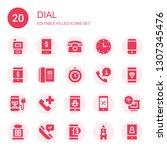 dial icon set. collection of 20 ... | Shutterstock .eps vector #1307345476
