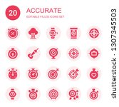 accurate icon set. collection... | Shutterstock .eps vector #1307345503