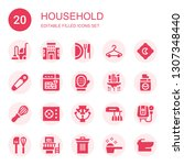 household icon set. collection... | Shutterstock .eps vector #1307348440