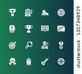 winner icon set. collection of... | Shutterstock .eps vector #1307348929