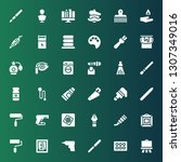 brush icon set. collection of...