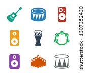 9 acoustic icons. trendy... | Shutterstock .eps vector #1307352430