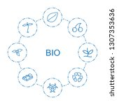 8 bio icons. trendy bio icons...   Shutterstock .eps vector #1307353636