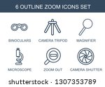 zoom icons. trendy 6 zoom icons.... | Shutterstock .eps vector #1307353789